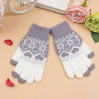 Winter Touch Screen Female Gloves Mittens For Women Christmas Snowflake Full/Hal