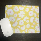 Yellow Flowers   Mouse Pad   Custom Mouse Pad   Gifts   Premium Mouse Pads