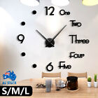 3d Modern Diy Wall Clock Mirror Surface Sticker Acrylic Clock Office Decor S/m/l