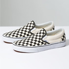 Vans CLASSIC SLIP-ON BlackWhite Canvas Shoes All Size Fast Shipping