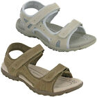 PDQ Sandals Flat Twin Fastening Strap Beach Holiday Lightweight Womens UK 3-8