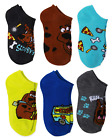 SCOOBY-DOO SCOOB Movie SHAGGY 6-Pack Low Cut No Show Socks Kids Ages 4-16 NWT