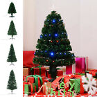 3/4/5/6/7ft Pre-Lit Artificial Christmas Tree Led Lights Fiber Optic Decorations