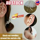 Ear Wrap Crawler Hook Earrings Needles Around The Auricle Clip Jewelry 2020 Au