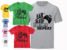 EAT SLEEP GAMING FORTNITE REPEAT T SHIRT. Promotional offer with FREE P&P