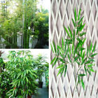 10x Home Artificial Leaf Bamboo Plants Green Tree Branches Decor Plastic Outdoor