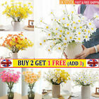 Real Touch Daisy Artificial Silk Fake Flower Bunch Party Wedding Home Decor Uk