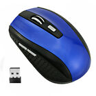 Wireless Mouse Optical USB Laptop PC 2.4GHZ 1600 DPI Mice + Rechargeable Battery