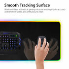 "LED 9 Lighting Large Gaming Mouse Keyboard Pad RGB Glowing Mat 12x23.5"" for PC"