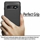 For Samsung Galaxy S20 Plus Ultra Note10 S10p Carbon Fiber Soft TPU Case cover