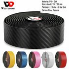 WEST BIKING Carbon fiber Cycling Road Bike Handlebar Tape Wrap Grip With Bar End