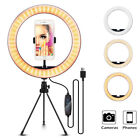 "10"" LED Selfie Ring Light with Tripod Stand Cell Phone Holder For Live Streaming"