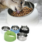 Cat Bowl Raised No Slip Stainless Steel Elevated Stand Tilted Nice Pet Food Bowl