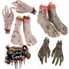 2PCS Bloody Horror Scary Halloween Prop Haunted House Hand Feet Broken