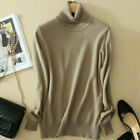 Womens Slim Knitted Cashmere Turtleneck Long Sleeve Pullover Sweaters  Jumper