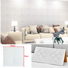 3d Tile Wall Sticker Self-adhesive Waterproof Foam Panel Wallpaper Home Decor Uk