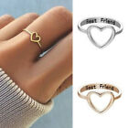 Women Love Heart Best Friend Ring Promise Jewelry Friendship Rings Bands Us 9