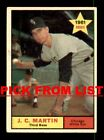 1961 Topps #3-397 VG-EX Pick From List All PICTURED