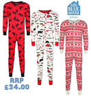MENS LADIES ONEZEE ALL IN ONE UNISEX PYJAMAS EX STORE PREMIUM NIGHT WEAR 1PC NEW