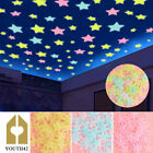 100/500pcs 3d Wall Glow Dark Stars Stickers Kids Bedroom Nursery Room Decor Co