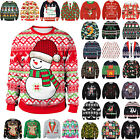 3D Print Men Womens Xmas Jumper Sweatshirt Ugly Christmas Sweater Kids Pullover