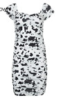Cow Animal Print Cute Women Short Dresses Party Clubwear Short Sleeve Mini Dress