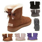 Authentic UGG Women's Shoes Mini Bailey Bow Boot Chestnut Black Grey Pink New