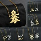 Simple Stainless Steel Long Clavicle Pendant Necklace Women Jewelry Xmas Gifts