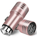 Universal Dual USB Car Charger 2.4A Window Hammer for Apple iPhone Android