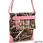 Realtree Camouflage Messenger Bag with Tassel and Stud
