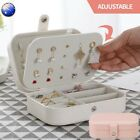 Women Portable Jewellery Ring Box Travel Storage Organizer Makeup Leather Case