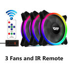 New Aurora 3/5/6/8in1 DR12 Pro Remote ASUS Aura Sync 120mm RGB LED Case Fan Lot