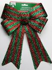 Christmas Bows 2 Designs: Red Plaid & Red/Green Striped Brand New/On Hand