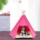 Outdoor Indoor Foldable Teepee Dog Bed Pentagons Pet House with Cushion Glitzy