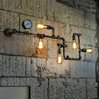 Industrial Style Water Pipe Wall Sconce Lamp Vintage Steampunk Metal Wall Lights