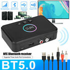 bluetooth 5 0 receiver wireless 3 5mm jack aux nfc to 2 rca audio stereo adapter
