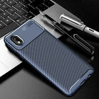 For Samsung Galaxy A01 Core M01 Core Shockproof Carbon Fiber Hybrid Case Cover