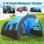 US 8-10 Person Blue/Camouflage Tent Outdoor Hiking Camping Shelter Waterproof §