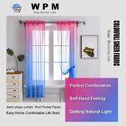 Pink Blue Ombre SEMI Sheer Curtains for Kids BEAUTIFUL 2 PANELS