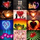 Full Drill Love Heart 5D Diamond Painting Cross Stitch Embroidery Decor Crafts