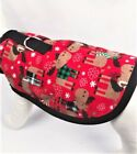 Moose Winter Holiday Christmas Flannel Dog Harness Clothes Coat
