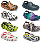Crocs Womens Classic Lined Animal Print Clogs Faux Fur Winter Slippers Shoes
