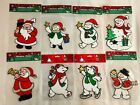 Christmas Santa&snowman Removable Window Gel Stickers Wall Art Home Decoration