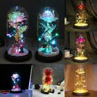 Led Light Enchanted Rose In Glass Dome Valentine's Day Gift Home Decoration Au