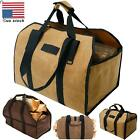 Outdoor Tote Camping Carry Bag Log Storage Bag Package Canvas Firewood Carrier