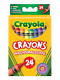 Crayola Wax Crayons Bright Strong Colour Sti (Pack of 24)