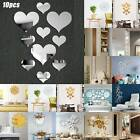 3d Mirror Effect Removable Wall Sticker Ornament Art Mural Decal Home Room Decor