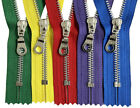 """YKK #5 Aluminum Metal Donut Pull Zippers -Sewing Bags Craft Closed-End 7"""" to 9"""""""