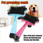 Plastic Push Brush for Cat and Dogs Pet Groom Bath Brush Hair Removal Home Tools