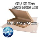 ROYAL MAIL BROWN LARGE LETTER CARDBOARD POSTAL MAILING BOX C5 / A5 FREE POST